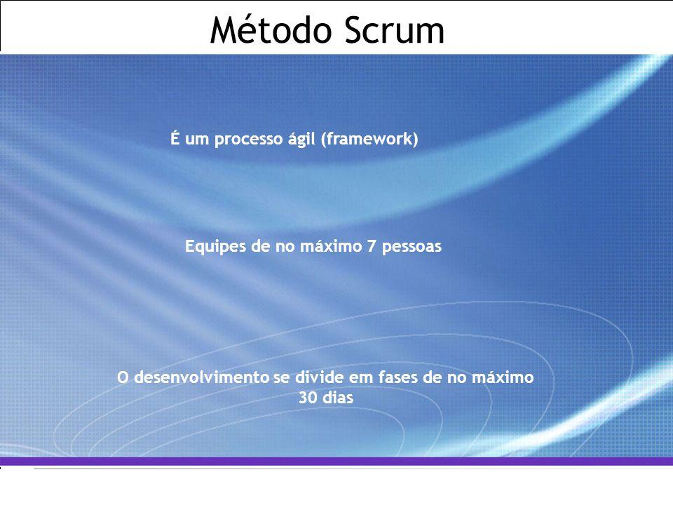 All Rights Reserved © Alcatel-Lucent 2007, ##### 10   GCS / IT&O   July 2007 Método Scrum É um processo ágil (framework) Equipes de no máximo 7 pessoa