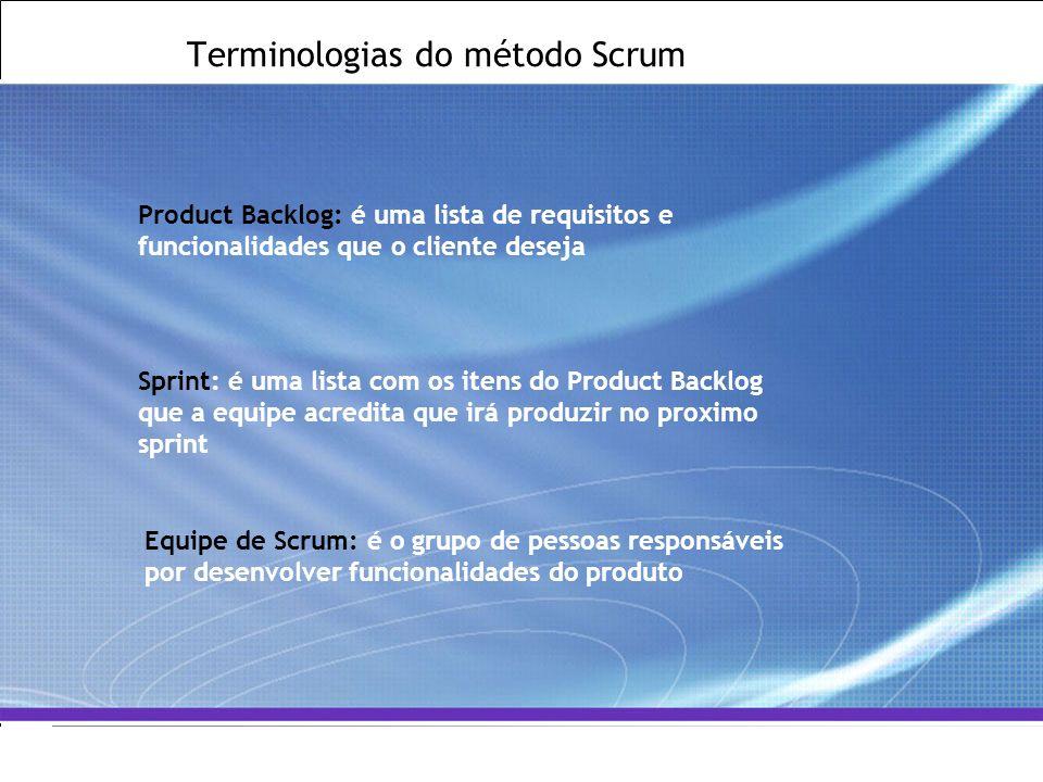 All Rights Reserved © Alcatel-Lucent 2007, ##### 14   GCS / IT&O   July 2007 Terminologias do método Scrum Product Backlog: é uma lista de requisitos