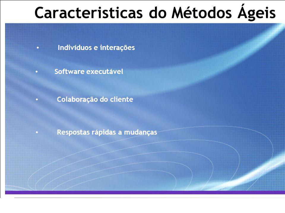 All Rights Reserved © Alcatel-Lucent 2007, ##### 3   GCS / IT&O   July 2007 Caracteristicas do Métodos Ágeis Indivíduos e interações Software executáv