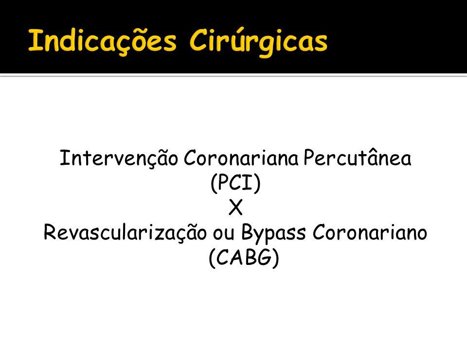 Intervenção Coronariana Percutânea (PCI) X Revascularização ou Bypass Coronariano (CABG)