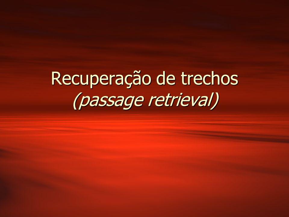 Recuperação de trechos (passage retrieval)