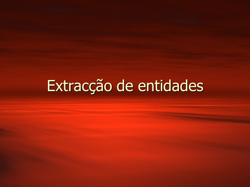 Extracção de entidades