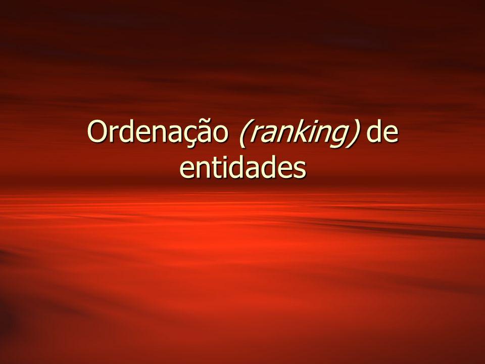 Ordenação (ranking) de entidades