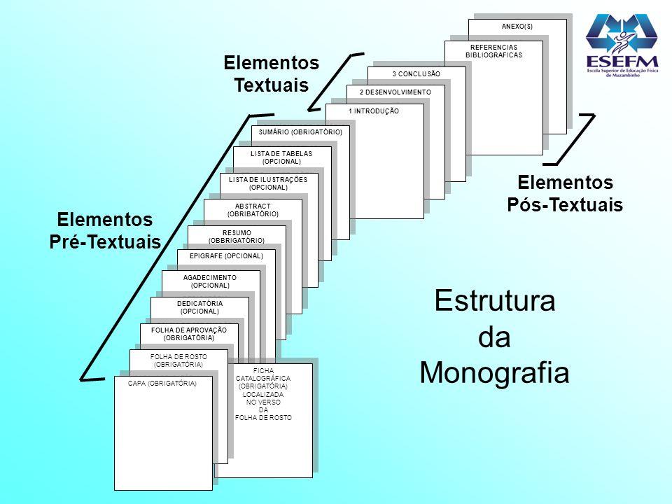 ANEXO(S) REFERENCIAS BIBLIOGRAFICAS REFERENCIAS BIBLIOGRAFICAS 3 CONCLUSÃO 2 DESENVOLVIMENTO 1 INTRODUÇÃO SUMÁRIO (OBRIGATÓRIO) LISTA DE TABELAS (OPCI