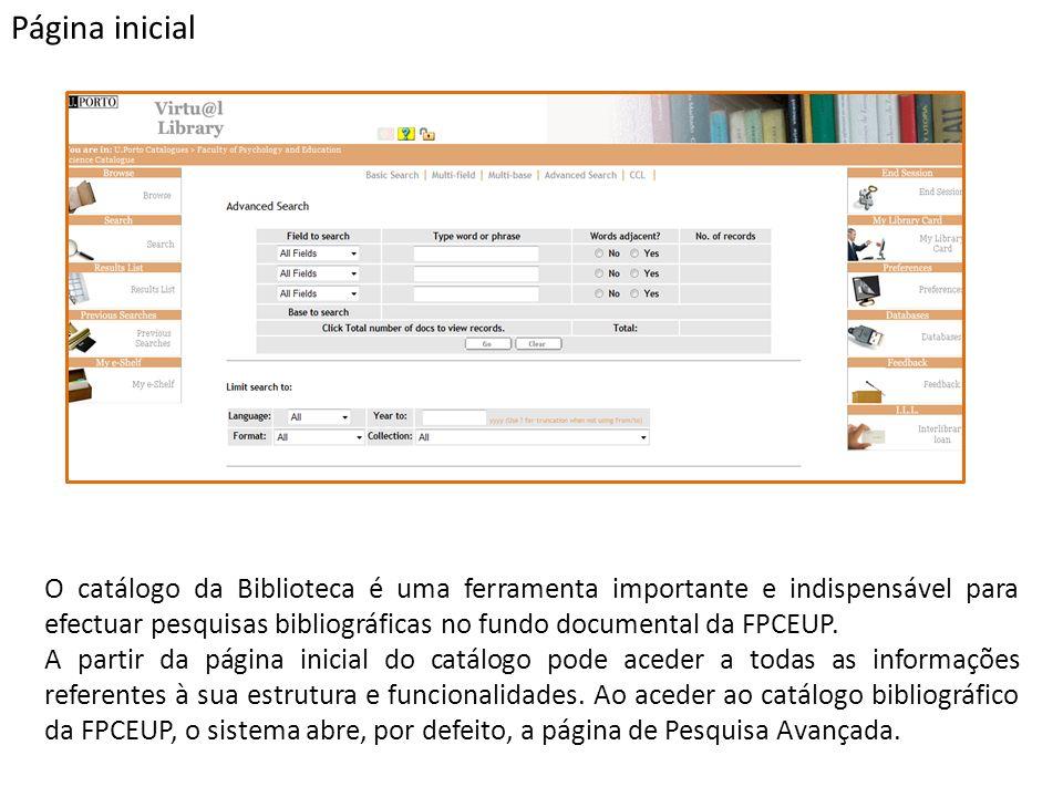 O catálogo da Biblioteca é uma ferramenta importante e indispensável para efectuar pesquisas bibliográficas no fundo documental da FPCEUP.