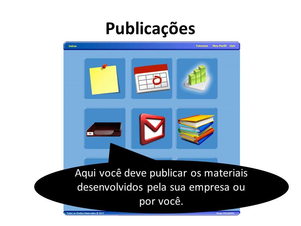 Será exibida uma lista de publicações que podem estar pendentes ou expiradas.