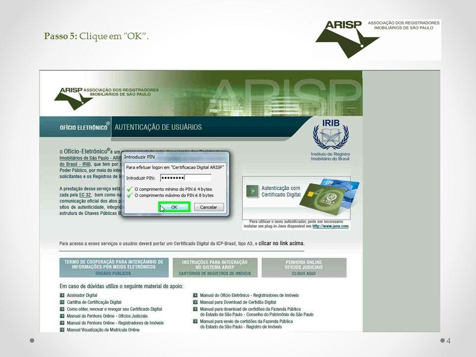 Passo 6: Clique no estado aonde o cartório de Registro de Imóvel de seu interesse esta localizado.