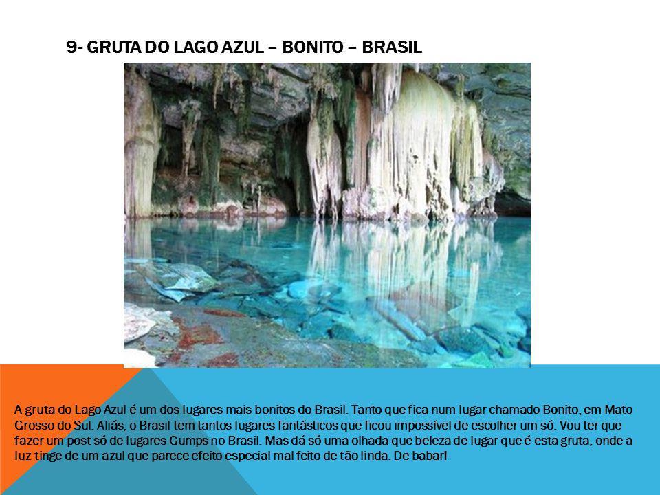 A gruta do Lago Azul é um dos lugares mais bonitos do Brasil. Tanto que fica num lugar chamado Bonito, em Mato Grosso do Sul. Aliás, o Brasil tem tant
