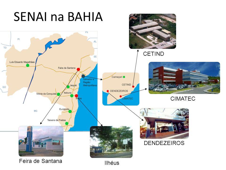 Feira de Santana CETIND CIMATEC DENDEZEIROS Ilhéus SENAI na BAHIA