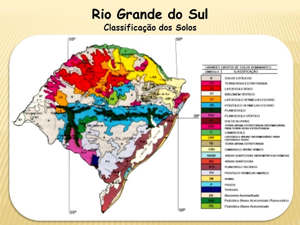 Rio Grande do Sul Classificação dos Solos
