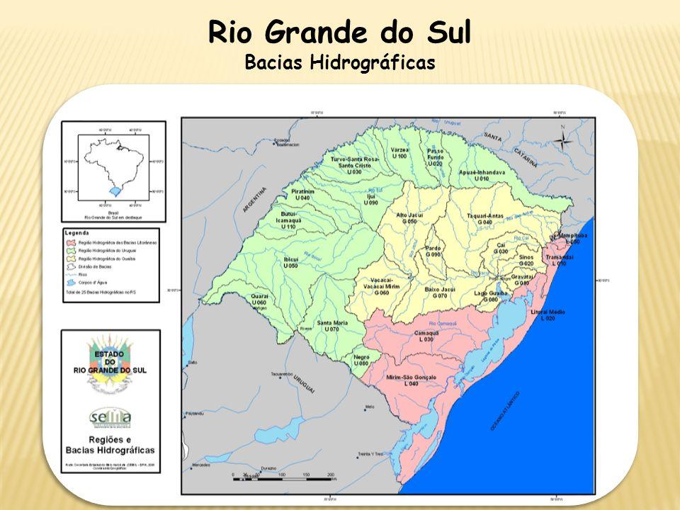 Rio Grande do Sul Bacias Hidrográficas
