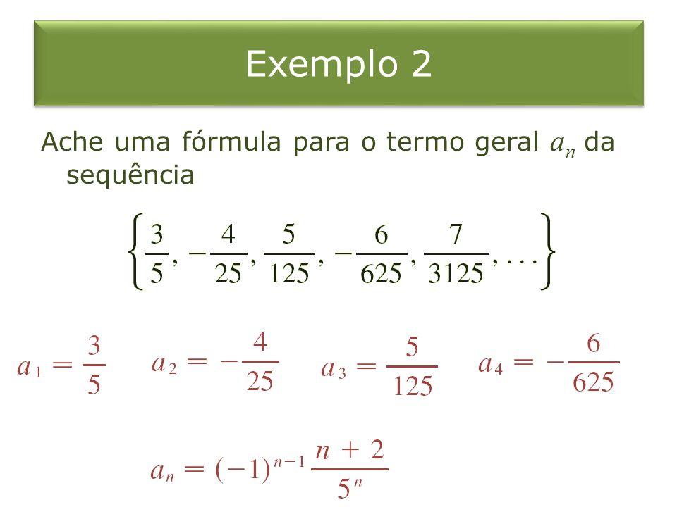 Exemplo 3 Sequências que não têm uma equação de definição simples a){ p n }, onde p n é a população mundial no dia 1º de janeiro do ano n.