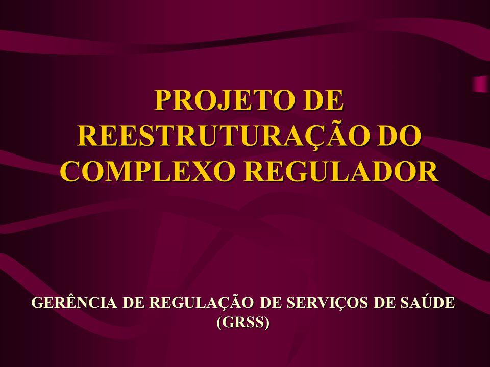 PROJETO DE REESTRUTURAÇÃO DO COMPLEXO REGULADOR GERÊNCIA DE REGULAÇÃO DE SERVIÇOS DE SAÚDE (GRSS)