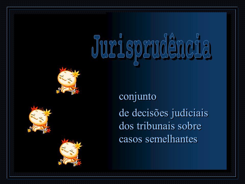 conjunto de decisões judiciais dos tribunais sobre casos semelhantes conjunto de decisões judiciais dos tribunais sobre casos semelhantes