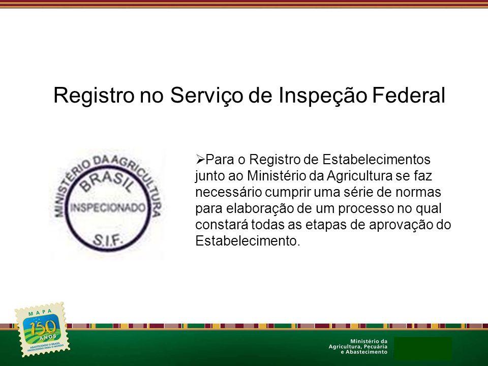 Registro no Serviço de Inspeção Federal Para o Registro de Estabelecimentos junto ao Ministério da Agricultura se faz necessário cumprir uma série de