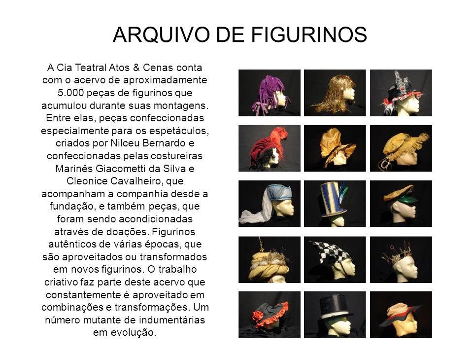 Seções para Pesquisa Arquivos - atualmente constituído pelo arquivo da Cia. Teatral Atos & Cenas, Ballet Stagium, Cia. da Mala, Grupo de aula da Casa