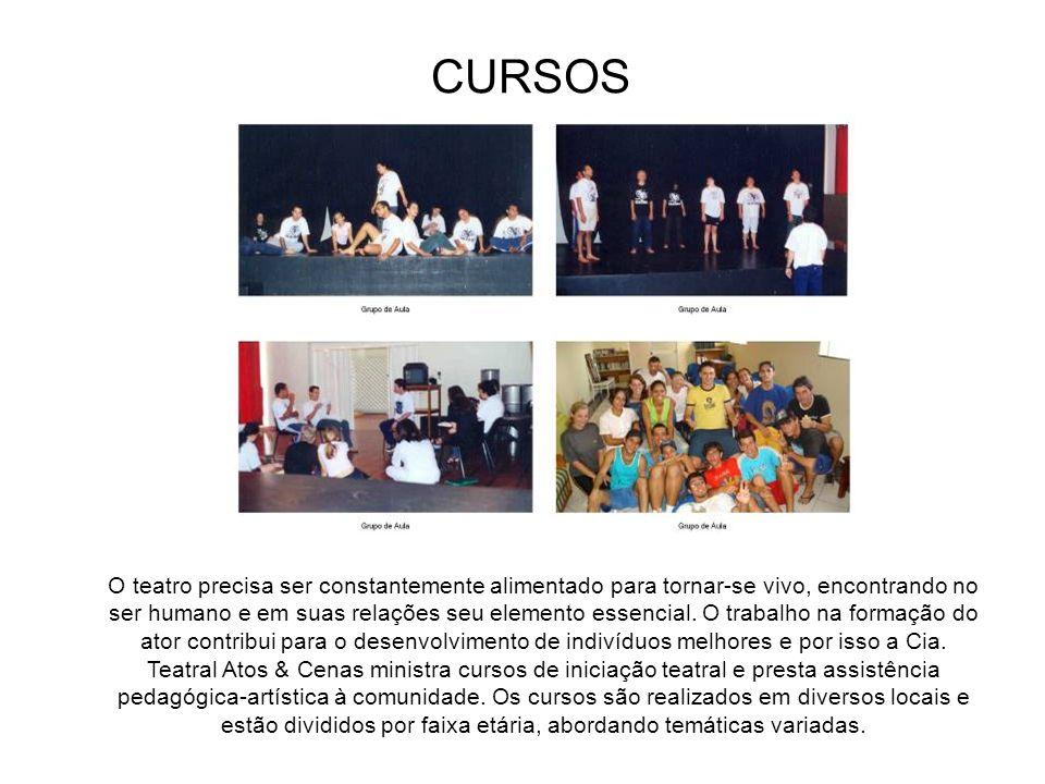 ARQUIVO DE FIGURINOS A Cia Teatral Atos & Cenas conta com o acervo de aproximadamente 5.000 peças de figurinos que acumulou durante suas montagens. En