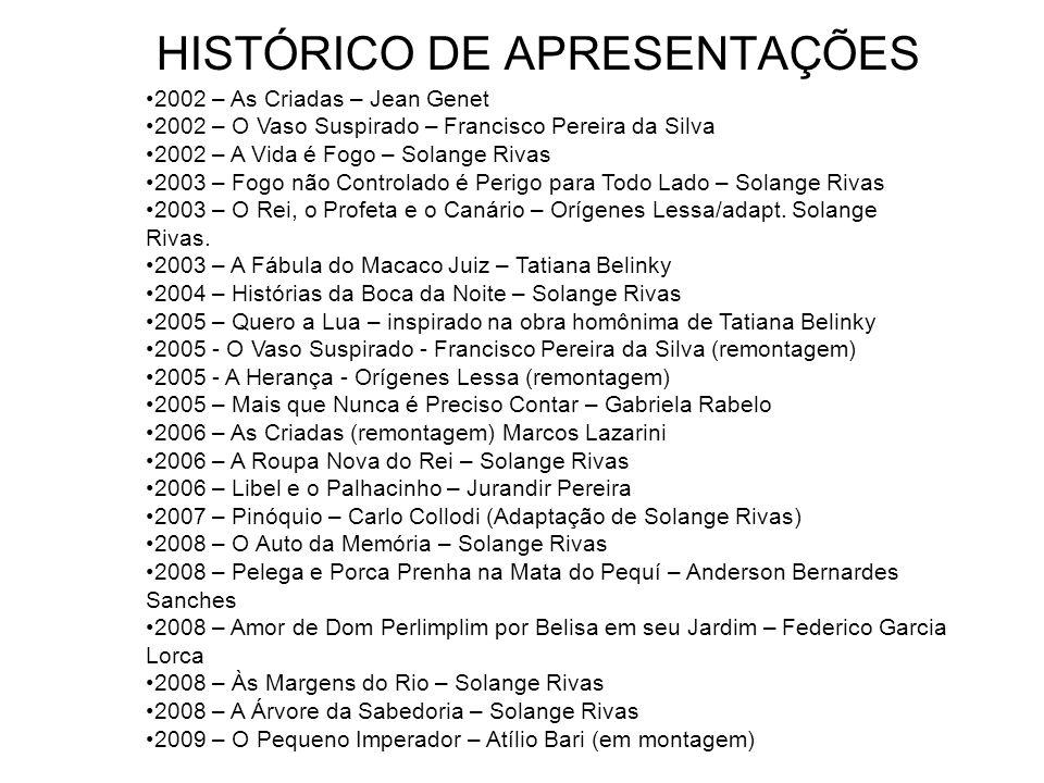 HISTÓRICO DE APRESENTAÇÕES 1990 – Juízo Final – Guilherme Figueiredo 1991 – O Próximo – Terrence MacNally 1991 – Justiça Seja Feita – Antonio Fagundes