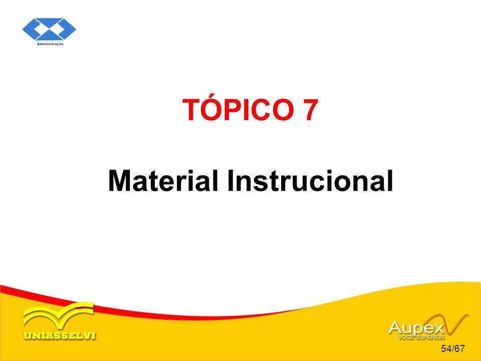 TÓPICO 7 Material Instrucional 54/67