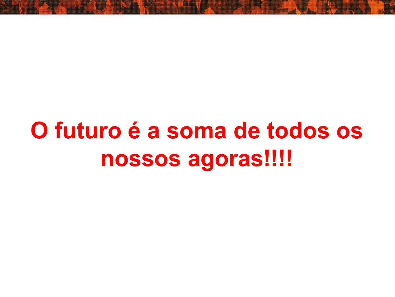 O futuro é a soma de todos os nossos agoras!!!!