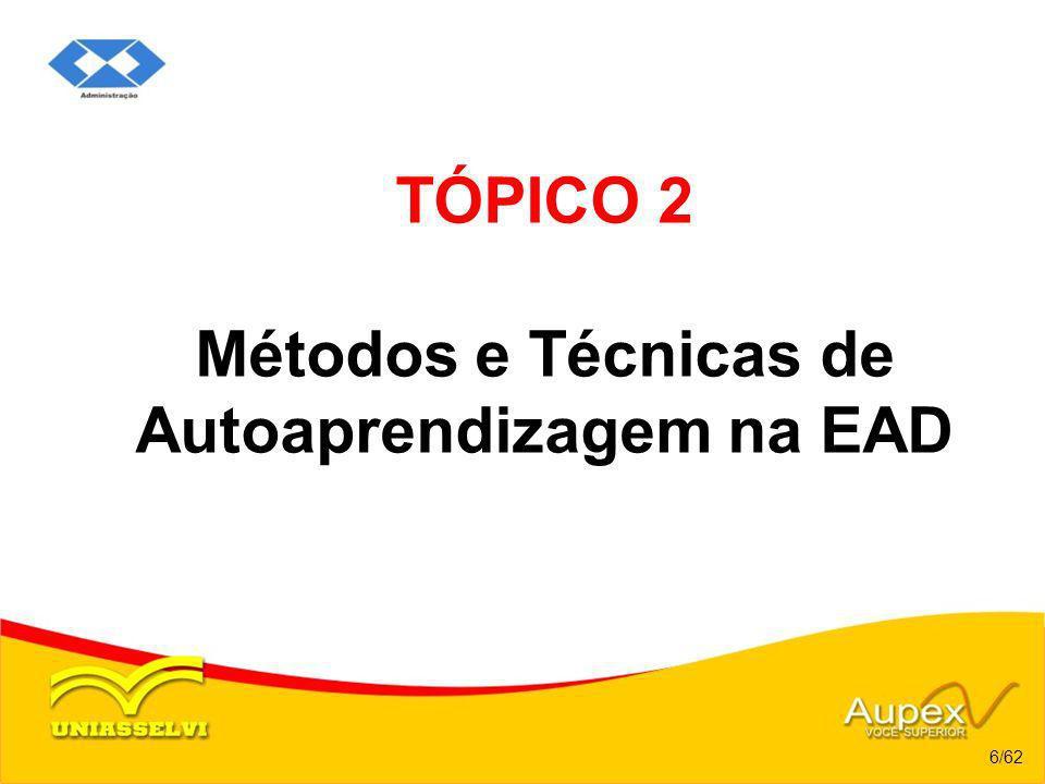 TÓPICO 2 Métodos e Técnicas de Autoaprendizagem na EAD 6/62