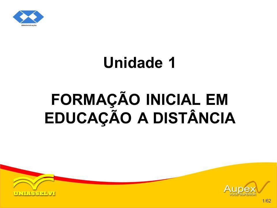 Unidade 1 FORMAÇÃO INICIAL EM EDUCAÇÃO A DISTÂNCIA 1/62