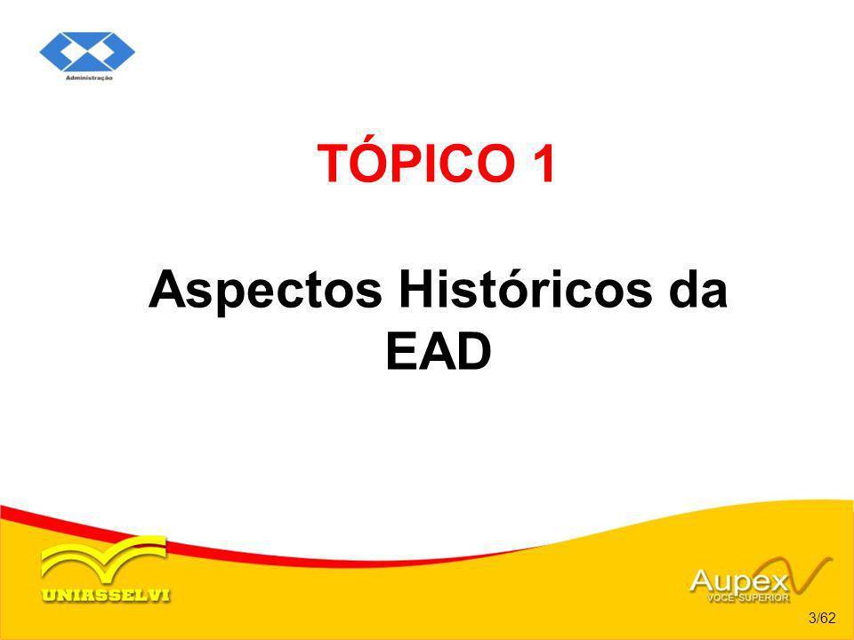 TÓPICO 1 Aspectos Históricos da EAD 3/62