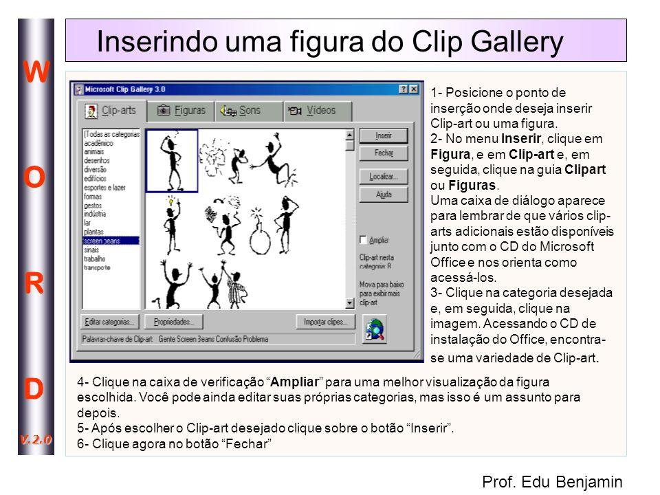 Prof. Edu Benjamin WORDWORD V.2.0 Editando elementos gráficos