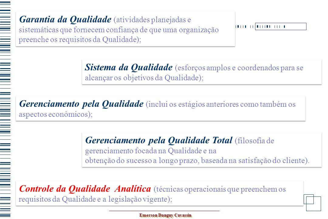 Controle da Qualidade Analítica (técnicas operacionais que preenchem os requisitos da Qualidade e a legislação vigente); Garantia da Qualidade (ativid