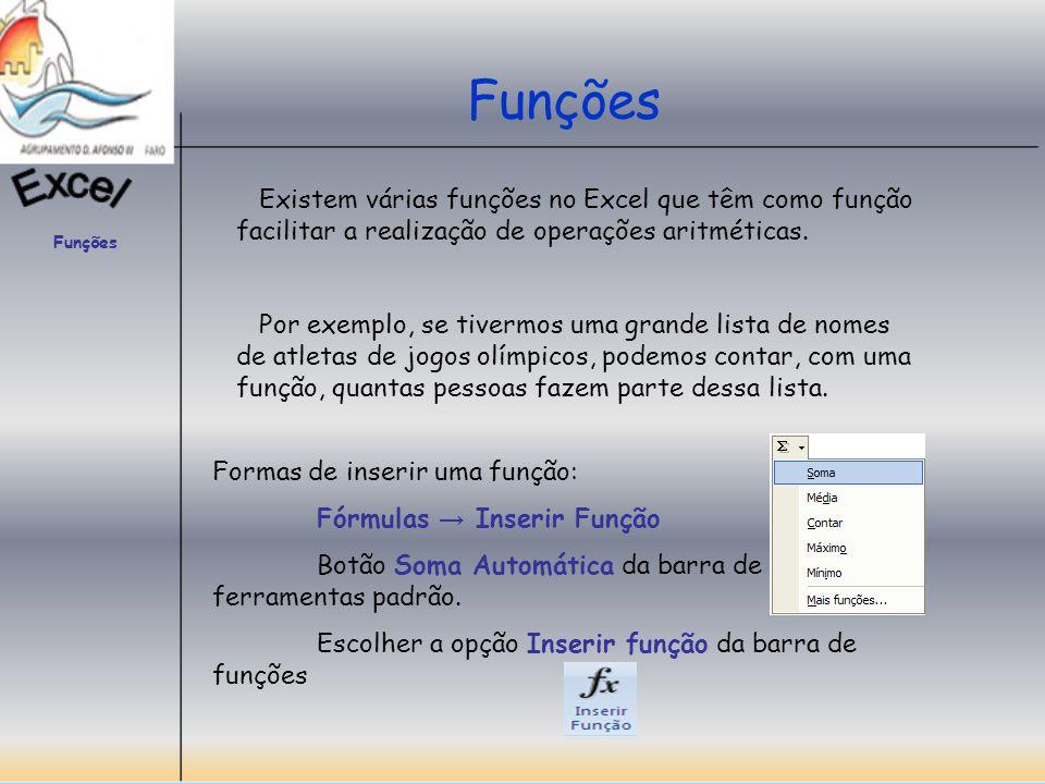 Funções Caixa de Diálogo Inserir Função