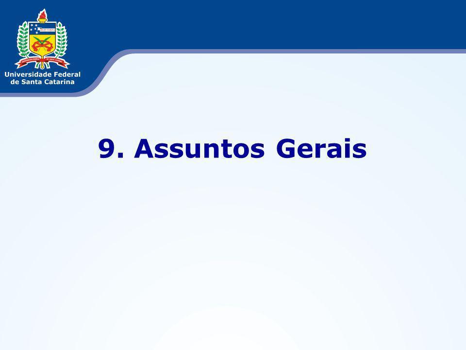 9. Assuntos Gerais