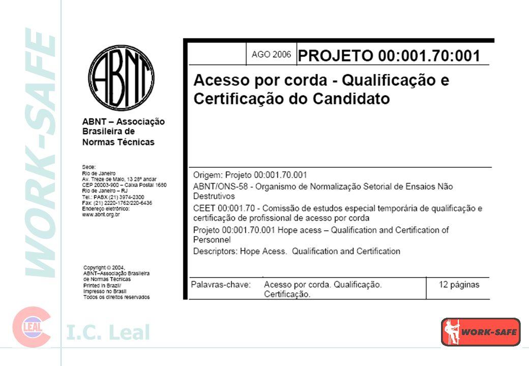 WORK-SAFE I.C. Leal Kit de Resgate: - Freio - Polia - Fita - Mosquetões