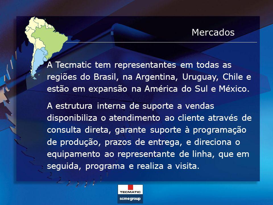 Mercados A Tecmatic tem representantes em todas as regiões do Brasil, na Argentina, Uruguay, Chile e estão em expansão na América do Sul e México. A e