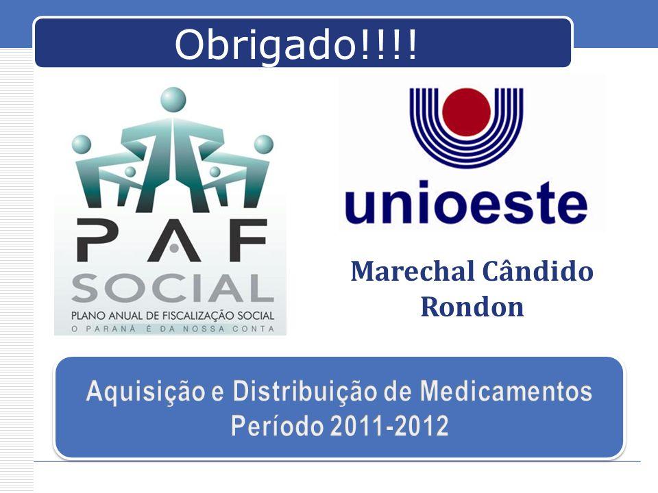 Obrigado!!!! Marechal Cândido Rondon