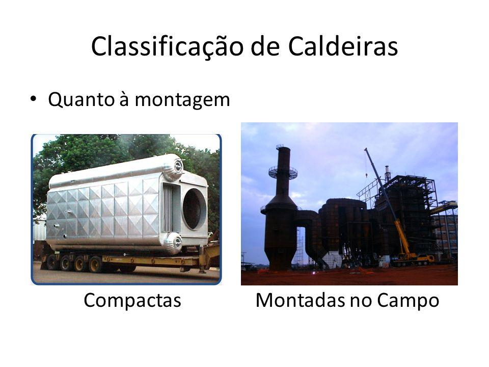 Classificação de Caldeiras Quanto à montagem Compactas Montadas no Campo Gases ÁGUA