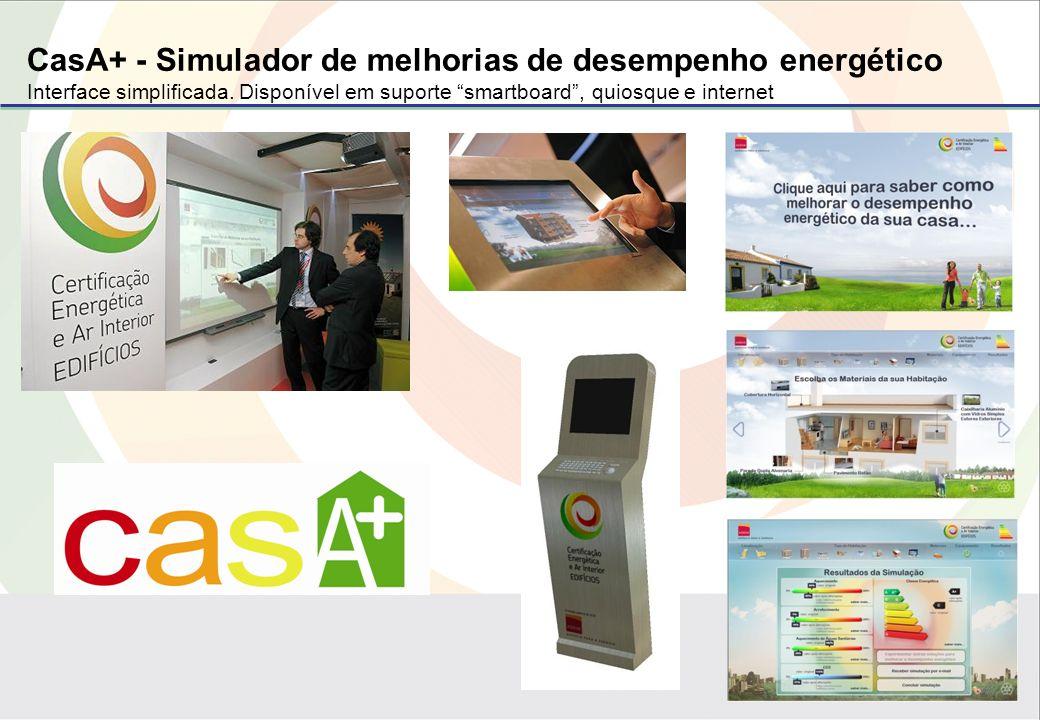 CasA+ - Simulador de melhorias de desempenho energético Interface simplificada.
