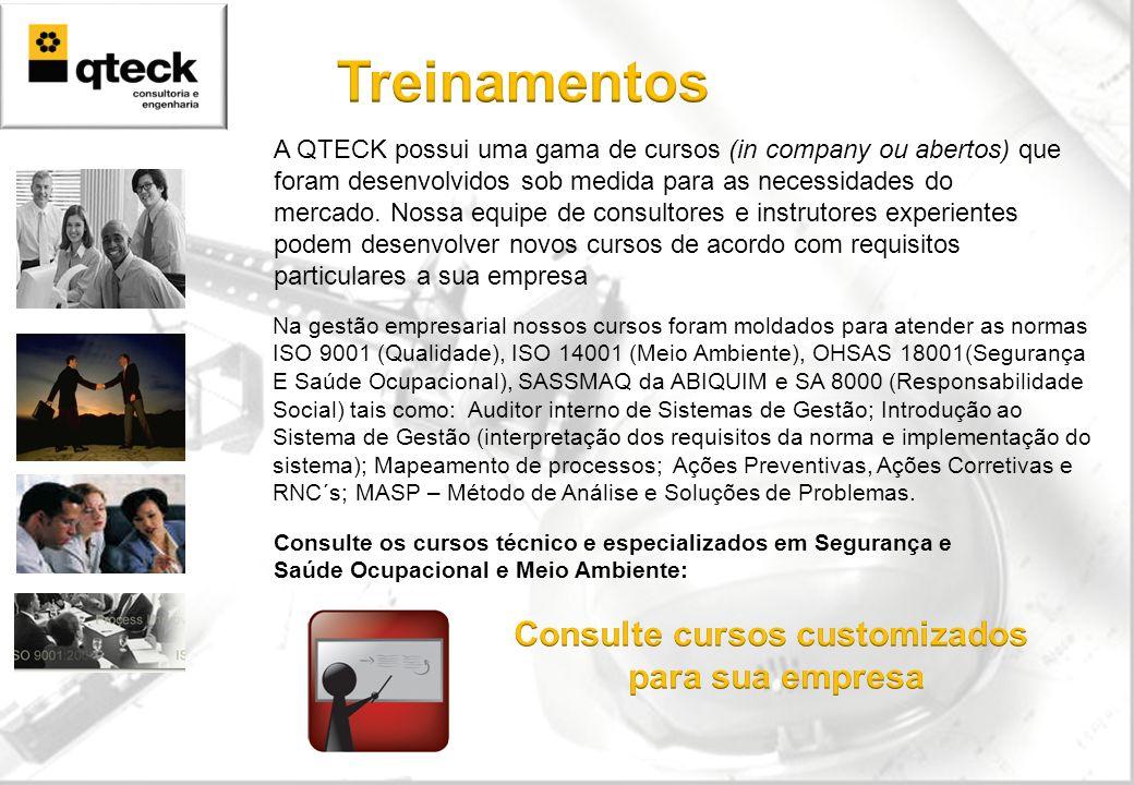 A QTECK possui uma gama de cursos (in company ou abertos) que foram desenvolvidos sob medida para as necessidades do mercado. Nossa equipe de consulto