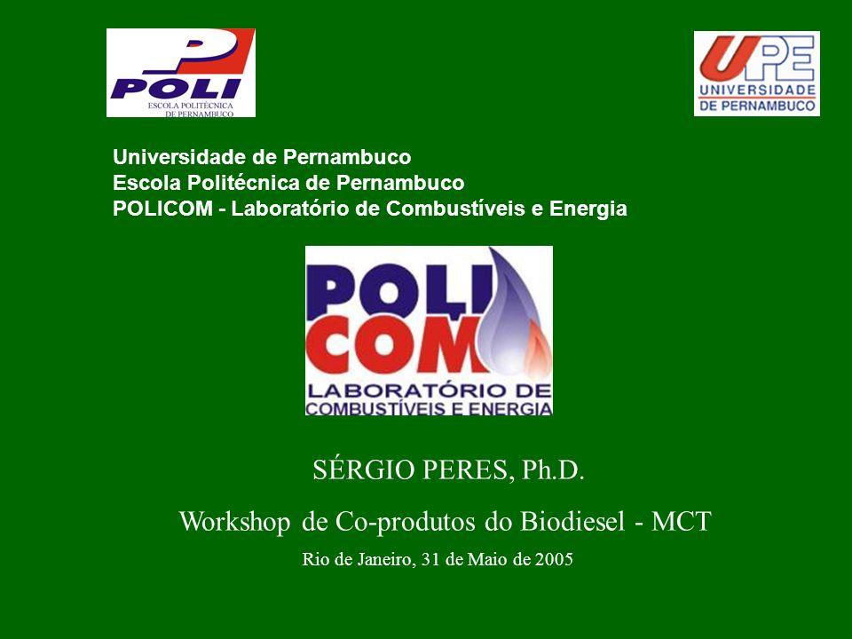 Universidade de Pernambuco Escola Politécnica de Pernambuco POLICOM - Laboratório de Combustíveis e Energia SÉRGIO PERES, Ph.D.