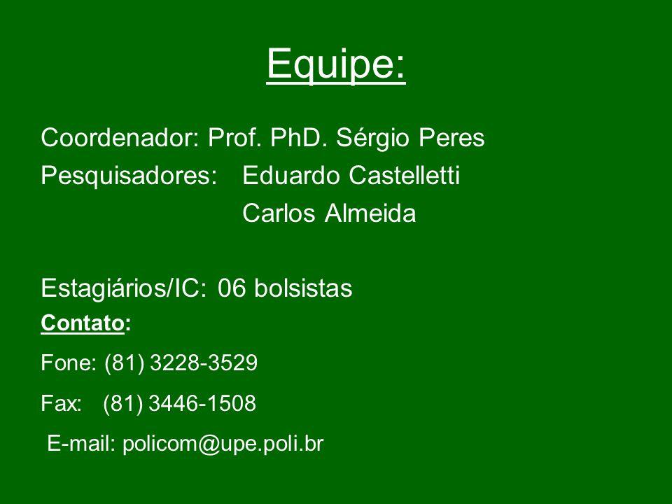 Equipe: Coordenador: Prof.PhD.