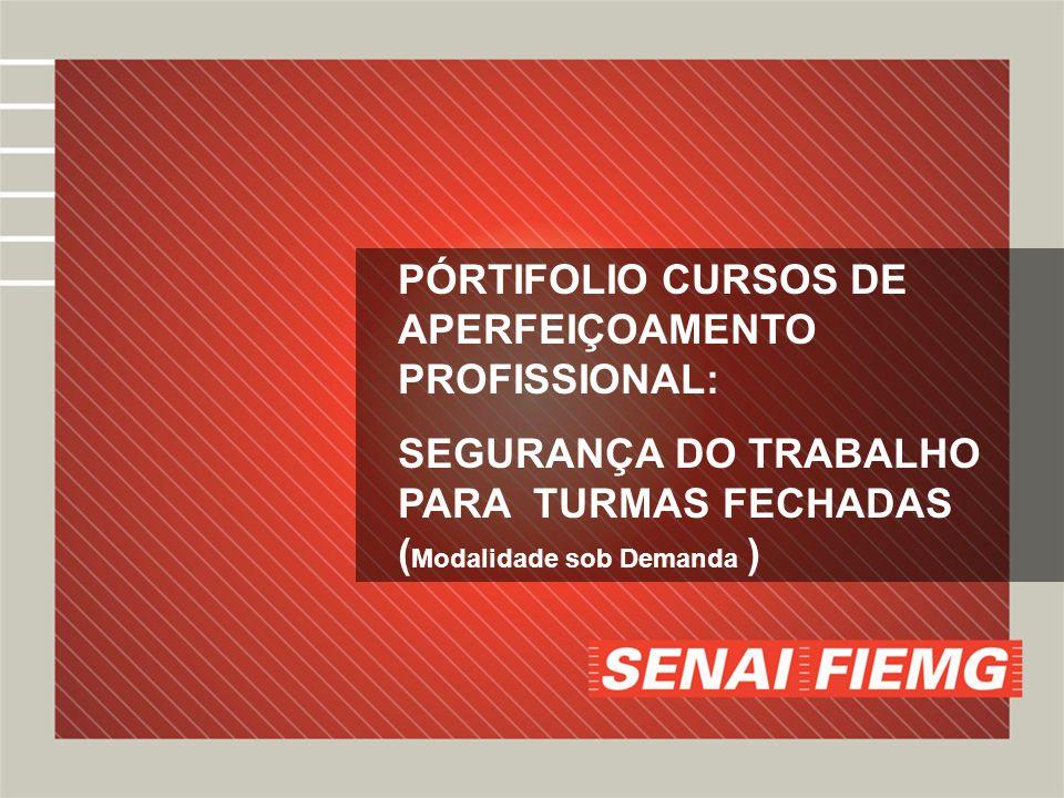 PÓRTIFOLIO CURSOS DE APERFEIÇOAMENTO PROFISSIONAL: SEGURANÇA DO TRABALHO PARA TURMAS FECHADAS ( Modalidade sob Demanda )