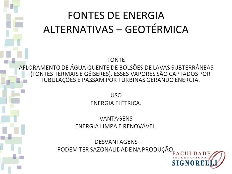 FONTES DE ENERGIA ALTERNATIVAS – ONDAS FONTE ONDAS OCEÂNICAS QUE ATRAVESSAM BARRAGENS FLUTUANTES, NA OSCILAÇÃO ESSES DISPOSITIVOS ALIMENTAM GERADORES