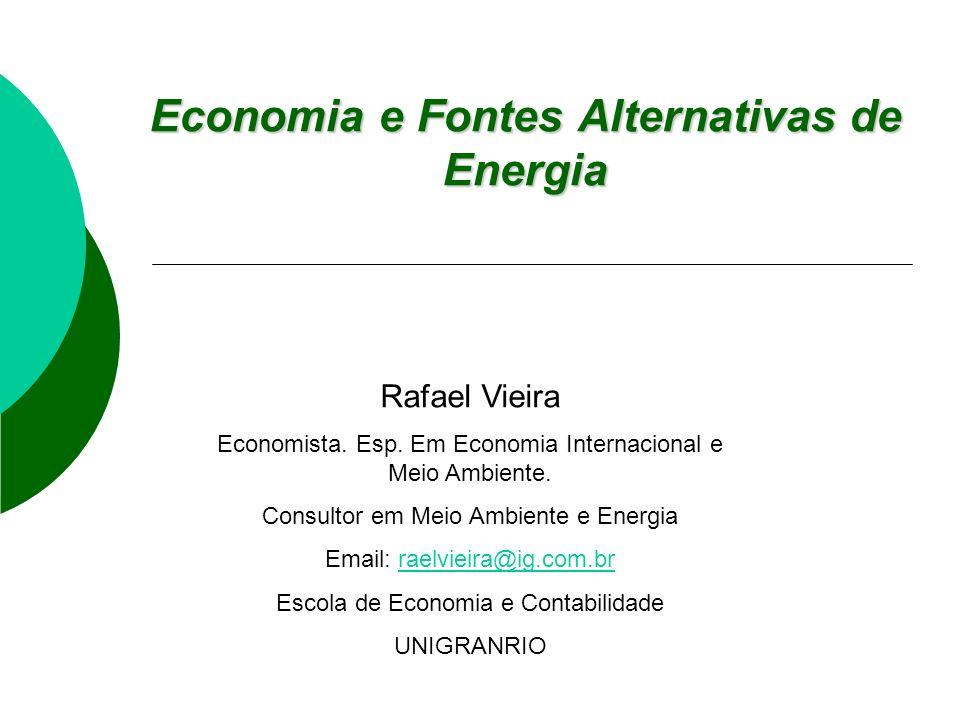 Economia e Fontes Alternativas de Energia Rafael Vieira Economista.