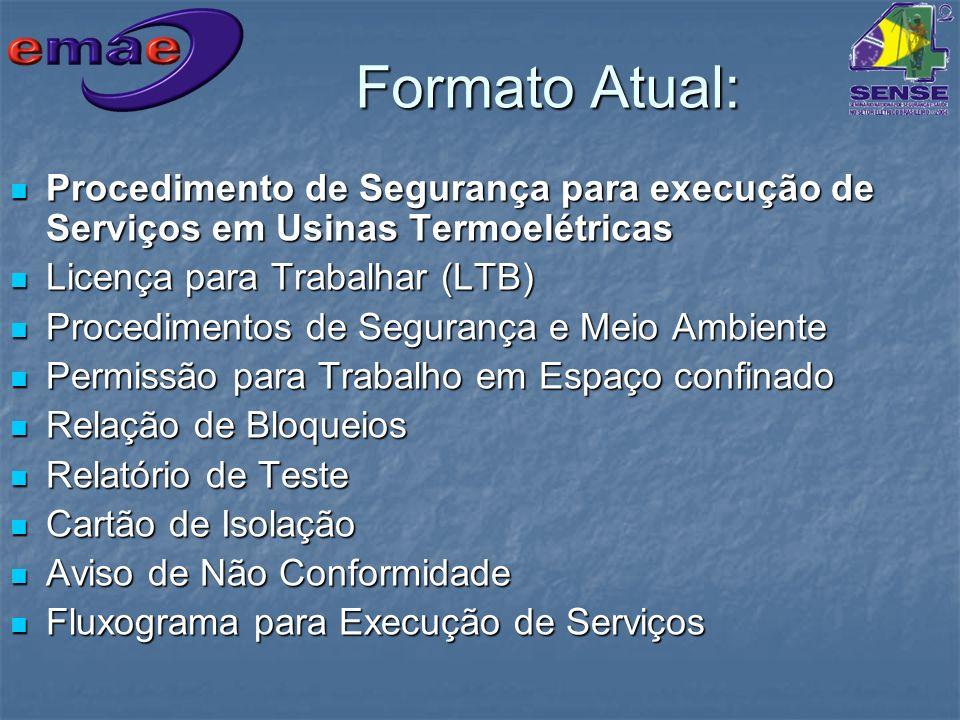 Formato Atual: Procedimento de Segurança para execução de Serviços em Usinas Termoelétricas Procedimento de Segurança para execução de Serviços em Usi