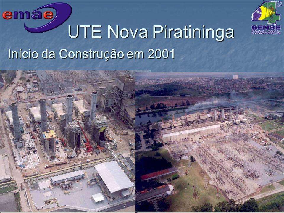 UTE Nova Piratininga Início da Construção em 2001