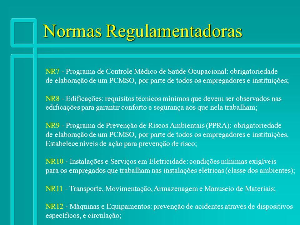 Normas Regulamentadoras NR7 - Programa de Controle Médico de Saúde Ocupacional: obrigatoriedade de elaboração de um PCMSO, por parte de todos os empre