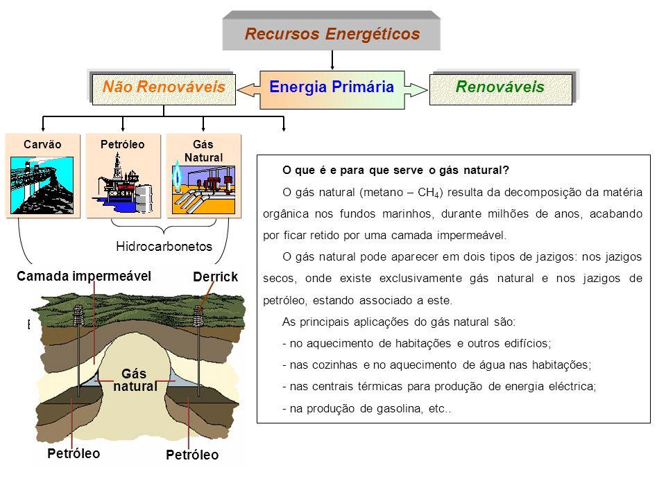 PetróleoCarvão Energia Primária Não RenováveisRenováveis Recursos Energéticos Gás Natural O que é e para que serve o gás natural? O gás natural (metan