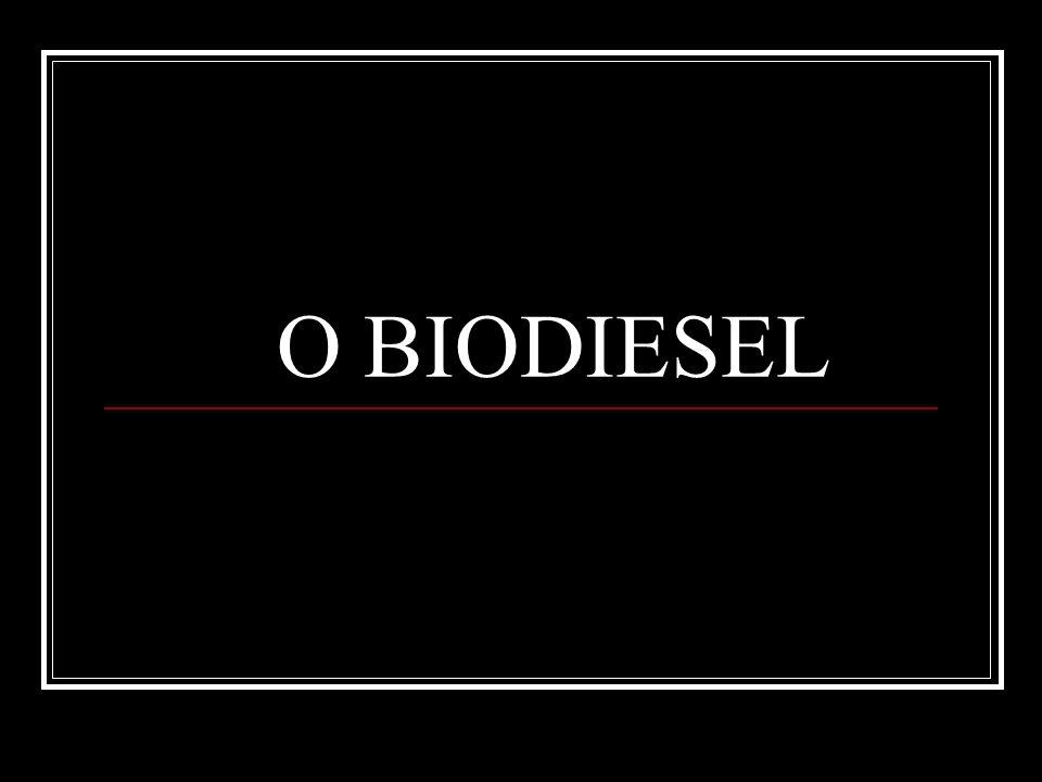 Combustível alternativo de queima limpa, produzido de recursos domésticos, renováveis, não contem petróleo, mas pode ser adicionado a ele formando uma mistura.