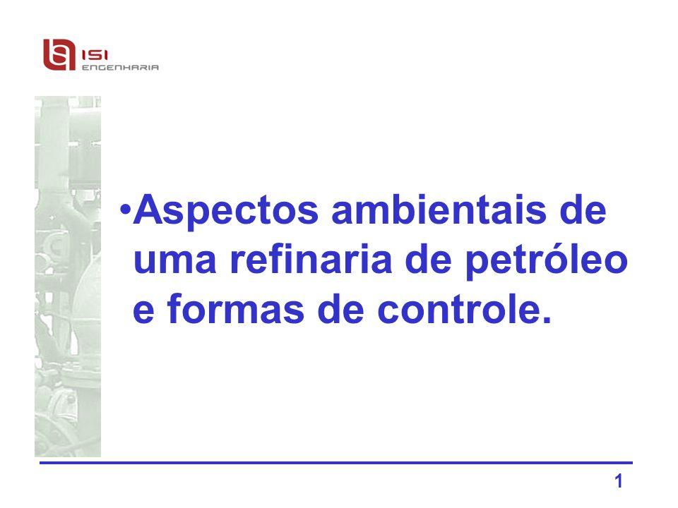 1 Aspectos ambientais de uma refinaria de petróleo e formas de controle.