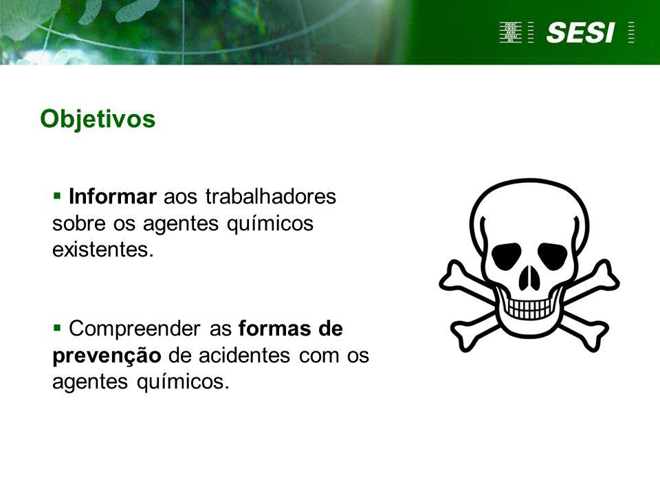 Símbolos que identificam os agentes químicos Você reconhece.