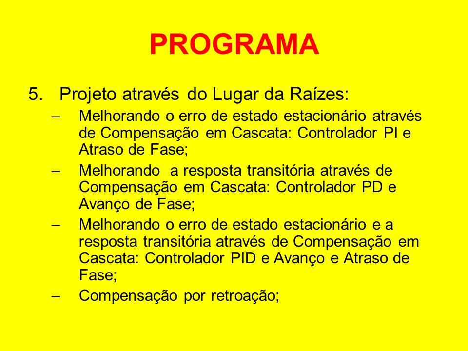 DEFINIÇÕES SISTEMA DE MALHA ABERTA: São sistemas em que o sinal de saída não exerce nenhuma ação de controle no sistema.
